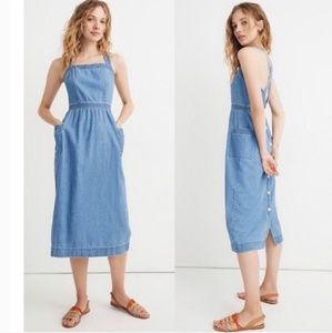 NWT Madewell Denim Apron Dress